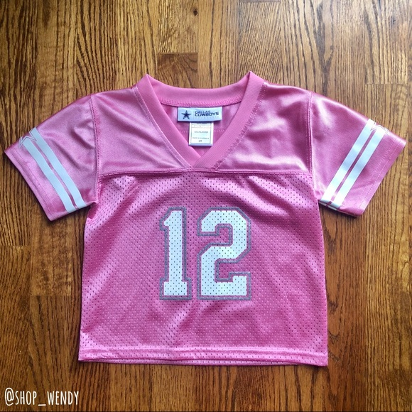 pink cowboys jersey for toddlers